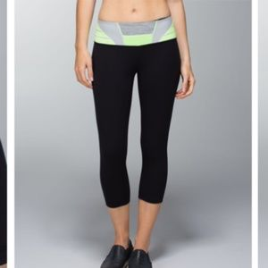 Lululemon Wunder Under Crop *Full-On Luon